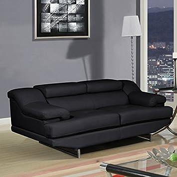 Global Furniture Natalie Loveseat - Black and Wagner