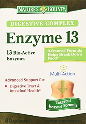 Natures Bounty Digestive Complex Enzyme 13 Capsules, 30 Count