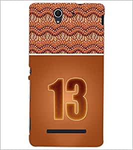 PrintDhaba Numerology Number 13 D-3646 Back Case Cover for SONY XPERIA C3 (Multi-Coloured)