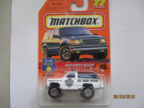 Matchbox 4x4 Chevy Blazer to the Rescue Series #22 - 1