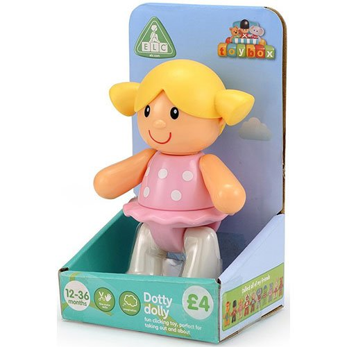 Early Learning Centre Toybox Dotty Dolly Baby Toy - Auditory and Tactile Interaction For Children -Engages and Employs Creativity - For On-The-Go or At-Home Play - Ages 12 Months and Up