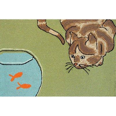 Frontporch Curious Cat Rug Rug Size: 20