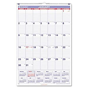 AT-A-GLANCE Recycled Monthly Wall Calendar, Large Wall, 2013 (PM4-28)