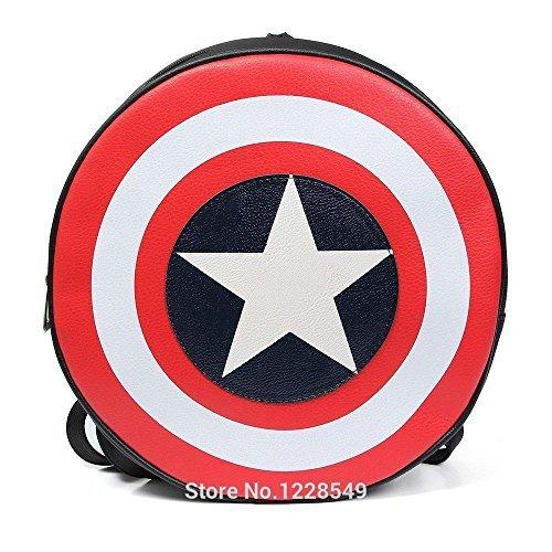 [Marvel the Avengers Captain America Shield Backpacks Shoulder Bag Cosplay Costume Size 44 x 44 cm.] (Jessica Jones Marvel Costume)