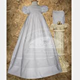Baby Girl White Bonnet Pintuck Lattice Christening Dress Outfit 3M-12M