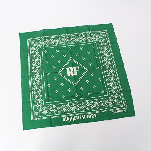 (ラギッドファクトリー)RUGGED FACTORY スクエアモチーフバンダナ ダークグリーン(023) 99