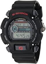 """Casio Men's DW9052-1V """"G-Shock"""" Black Stainless Steel and Resin Digital Watch"""