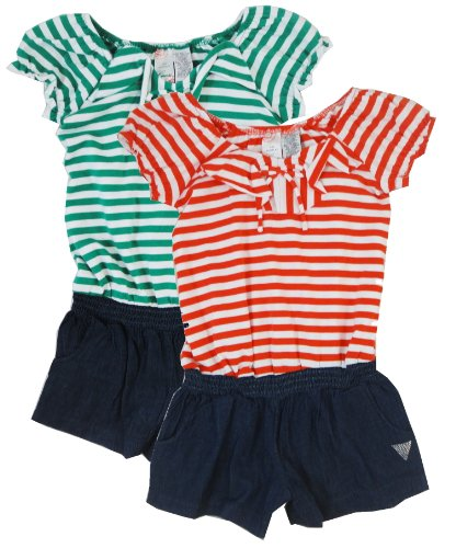 GUESS Girls Striped Romper