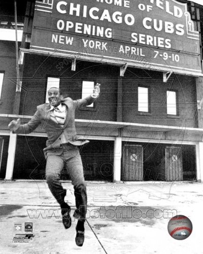 Ernie Banks Chicago Cubs at Wrigley Field Photo