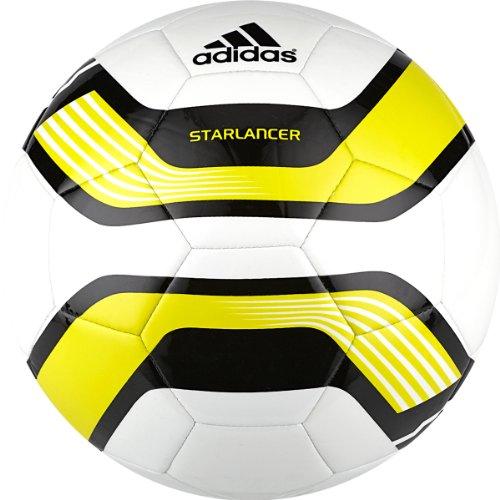 Adidas Starlancer III Soccer Ball (White/Black/Lab Lime, 5)