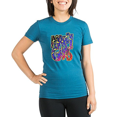 Royal Lion Org Women's Fitted T-Shirt Dk Mardi Gras Fat Tuesday with Beads