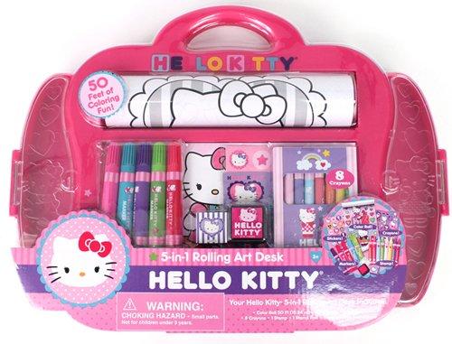 Hello Kitty 5-in-1 Rolling Art Desk
