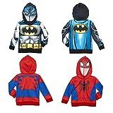 Marvel Little Boy's Batman and Spiderman Jacket Hoodie Set
