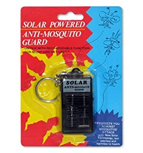 Goldmaster Solar Power Anti-Mosquito Keychain Repellant Repels Mosquitoes any place, either indoors or outdoors, in dim light or in total darkness!
