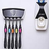 Kokome Automatische Zahnpastaspender mit Zahnbürstenhalter Organizer Set