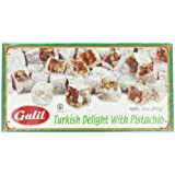 Galil Turkish Delight, Pistachio, 16-Ounce Boxes (Pack of 4)