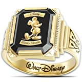 Mickey Mouse 1928 Commemorative Retro-Style Ring With Wooden Collector's Case by The Bradford Exchange