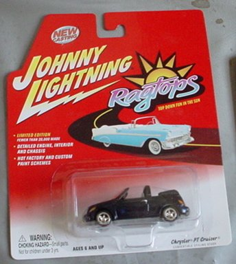Johnny Lightning Ragtops Chrysler PT Cruiser BLUE Convertible