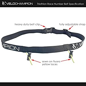 VeloChampion Triathlon/Running Race Number Belt