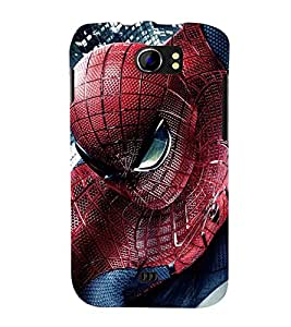 Printvisa Spider Man In Action Back Case Cover for Micromax Canvas 2 A110::Micromax Canvas 2 Plus A110Q
