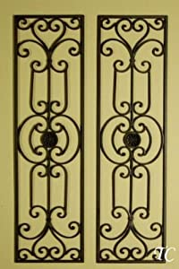 Tuscan Mediterranean Wrought Iron Wall Grille