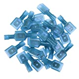 SOLOOP 50pcs Female & Male Fully Insulated Wire Terminals Connector Nylon Spade Connectors Blue