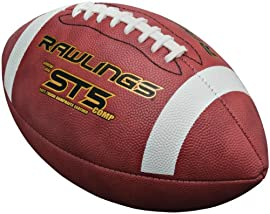 Rawlings ST5COMPB Official Size NCAA® and NFHS® Approved Composite Leather Game Football