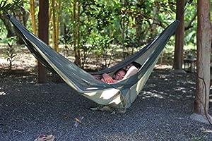 Ultralight Nylon Camping Hammock - by Hammock Time(TM) X-Large Portable Travel Parachute Nylon Camping Hammock 9'10 Long x 5' Wide