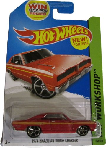 Hot Wheels 2014 Hw Workshop Muscle Mania Red 1974 Brazilian Dodge Charger 240/250 - 1