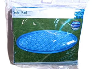 Outdoor above ground swimming pool solar pad 63 diameter swimming pool solar for Swimming pool solar heaters amazon