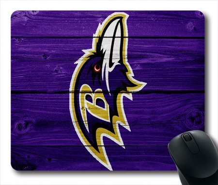 Baltimore-Ravens-Logo-NFL-Football-Team-Diy-Mouse-Pad