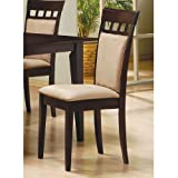 Coaster Contemporary Style Dining Table, Solid Wood, Cappuccino Finish