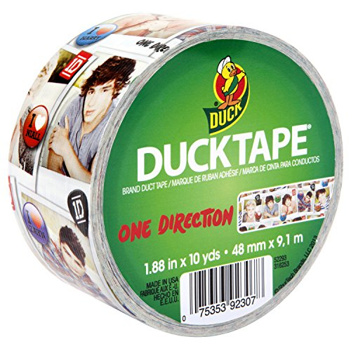 Duck Brand 281972 One Direction Printed Duct Tape, 1.88 Inches X 10 Yards, Single Roll