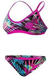 TYR SPORT Women\'s Safari Crossfit Workout Bikini (Rainbow, X-Small)