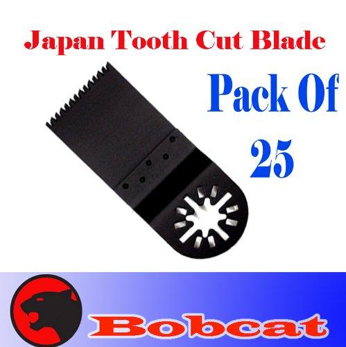 Pack Of 25 Japan Tooth Fast Cut Oscillating Multi Tool Saw Blade For Fein Multimaster Bosch Multi-X Craftsman Nextec Dremel Multi-Max Ridgid Dremel Chicago Proformax Blades