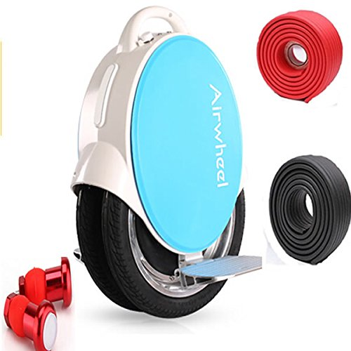 Airwheel Q5-170 Dual Wheels More Stable 40-60Km Range Self-Balancing Electric Unicycle Scooter With Bumper Strip And Led Night Riding Set Usa Charger