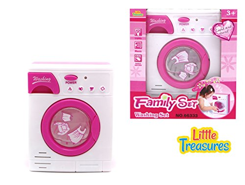 Little Treasures Baby Home Miniature Laundry Playset for Children - Mommy's Little Helper Pretend Play Washing Machine Cleaning Set (Kids Laundry Center compare prices)