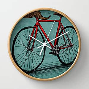 Amazon.com - Society6 - Baffi Bici Wall Clock by Chance Horseribs