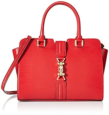 Calvin Klein Patent Leather Satchel Bag