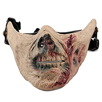 Halloween Zombie Walking Dead Scary Mask Children Costume Half Face Mask Skull Creepy