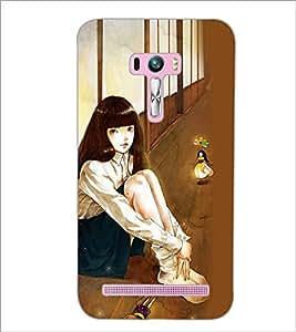 PrintDhaba Fantasy Girl D-6037 Back Case Cover for ASUS ZENFONE SELFIE ZD551KL (Multi-Coloured)