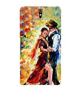 Dancing Couple 3D Hard Polycarbonate Designer Back Case Cover for Sony Xperia C5 Ultra Dual :: Sony Xperia C5 E5533 E5563