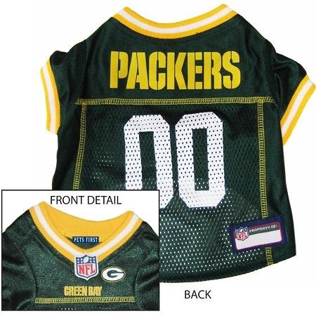 Pets First Official NFL Green Bay Packers Jersey Small