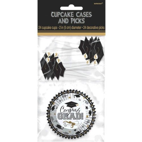 Amscan Grad Cupcake Cups & Picks