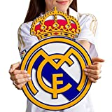Real Madrid CF acrylic shield crest to hang on wall with stand same as on Ronaldo James Bale jersey