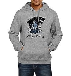 Fanideaz Men's Cotton Valar Morghulis Arya Winter is Coming Game of Thrones Hoodies For Men (Premium Sweatshirt)_Grey Melange_M