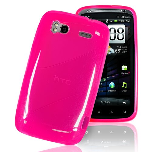 HTC SENSATION HIGH QUALITY PINK HYDRO GEL CASE COVER | SKIN ^^FREE UK SHIPPING (lifetime warranty)