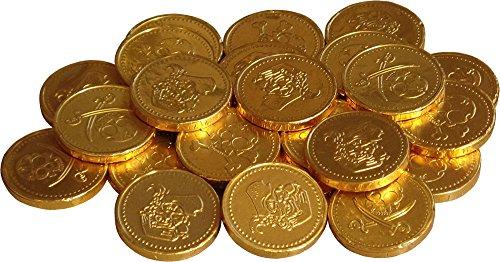 Pièces d'or de chocolat au lait Pirate (pack de 25)