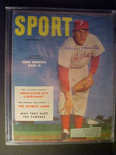 Robin Roberts Philadelphia Phillies Autographed September 1953 Sport Magazine at Amazon.com