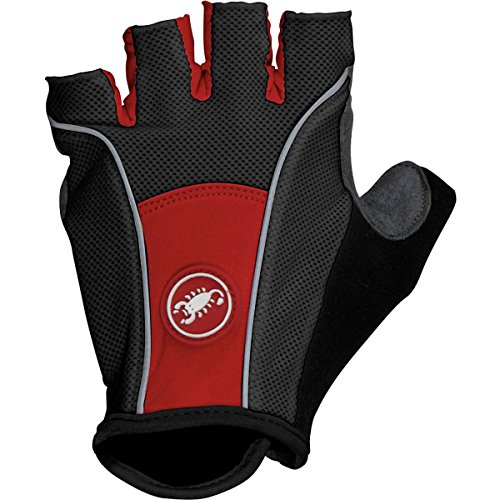 Castelli Pro Gloves Black/Red, M - Men's